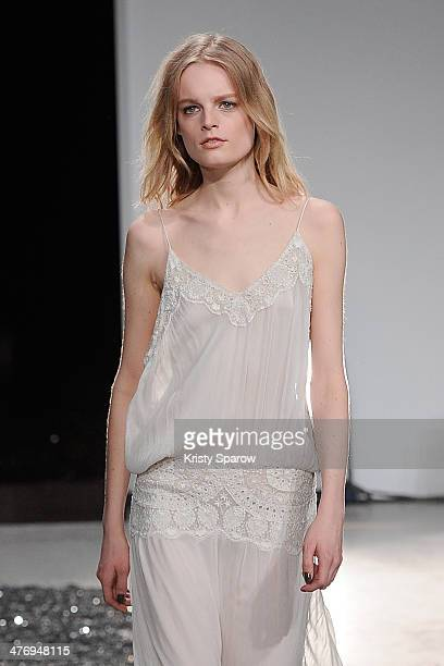 A model walks the runway during the Zadig Voltaire show as part of Paris Fashion Week Womenswear Fall/Winter 20142015 on March 5 2014 in Paris France