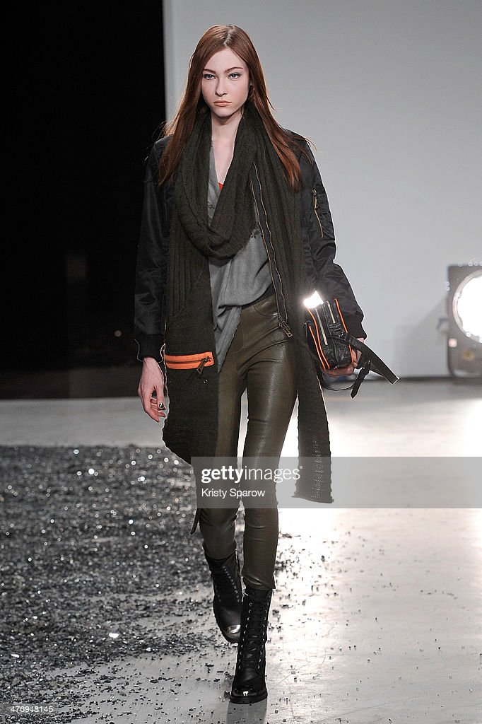 A model walks the runway during the Zadig & Voltaire show as part of Paris Fashion Week Womenswear Fall/Winter 2014-2015 on March 5, 2014 in Paris, France.
