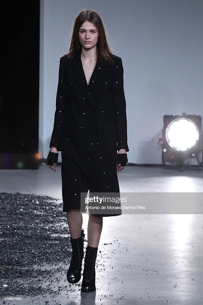 A model walks the runway during the Zadig & Voltaire show as part of the Paris Fashion Week Womenswear Fall/Winter 2014-2015 on March 5, 2014 in Paris, France.