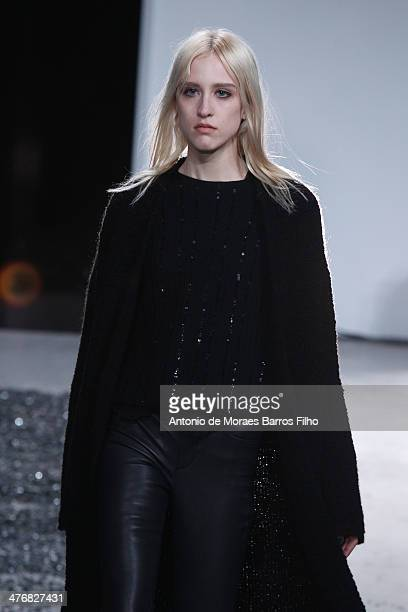A model walks the runway during the Zadig Voltaire show as part of the Paris Fashion Week Womenswear Fall/Winter 20142015 on March 5 2014 in Paris...