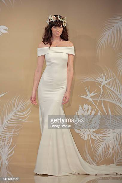 A model walks the runway during Theia at New York Fashion Week Bridal October 2016 at THEIA's Showroom on October 6 2016 in New York City