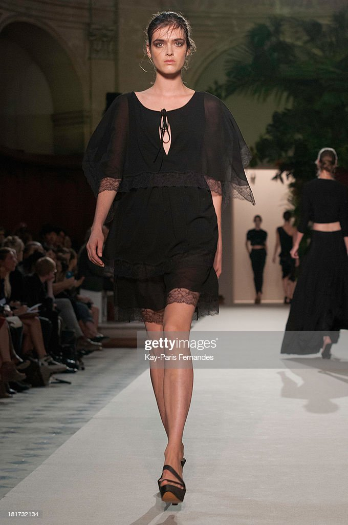 A model walks the runway during thePascal Millet show as part of the Paris Fashion Week Womenswear Spring/Summer 2014 on September 24, 2013 in Paris, France.