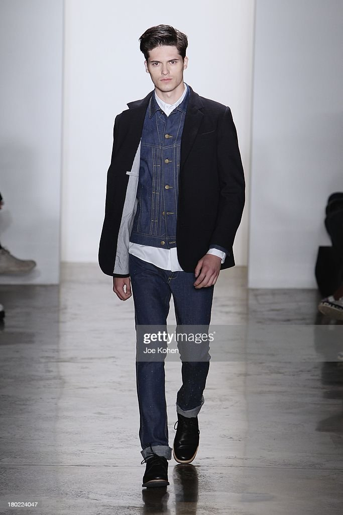 A model walks the runway during Timo Weiland Women's fashion show during Spring 2014 MADE Fashion Week at Milk Studios on September 10, 2013 in New York City.