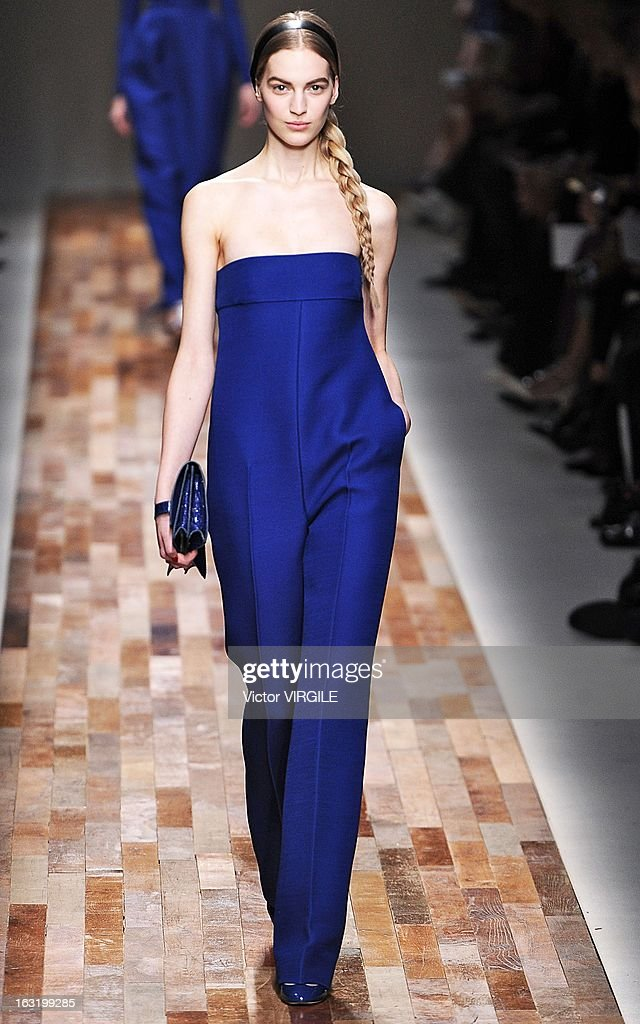 A model walks the runway during Valentino Fall/Winter 2013 Ready-to-Wear show as part of Paris Fashion Week on March 5, 2013 in Paris, France.