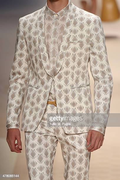 A model walks the runway fashion detail during the Etro fashion show as part of Milan Men's Fashion Week Spring/Summer 2016 on June 22 2015 in Milan...