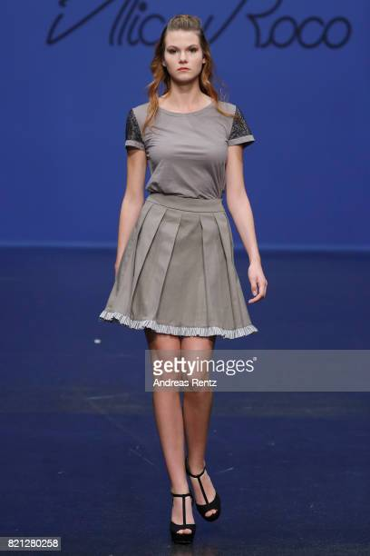 A model walks the runway for Alice Roco at the Fashionyard show during Platform Fashion July 2017 at Areal Boehler on July 23 2017 in Duesseldorf...