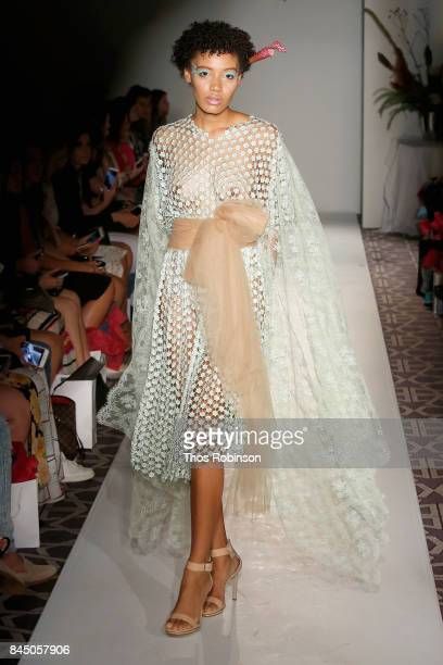 A model walks the runway for Anna Francesca Fashion Show during New York Fashion Week at Stewart Hotel on September 9 2017 in New York City