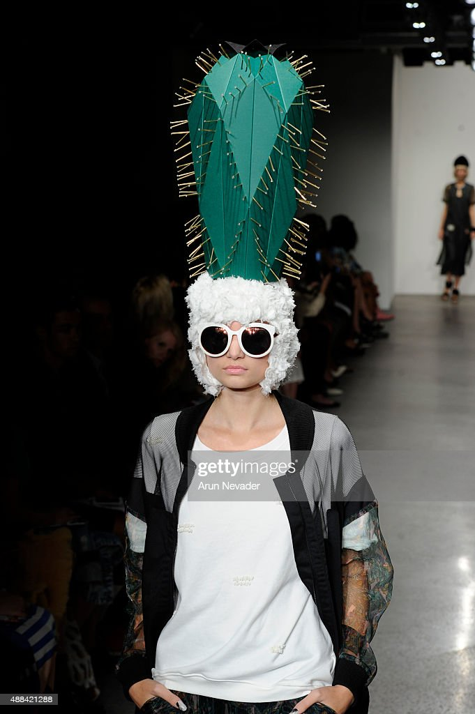 Model walks the runway for Daydream Nation during the Fashion Guerilla group show on September 15 2016 in New York City