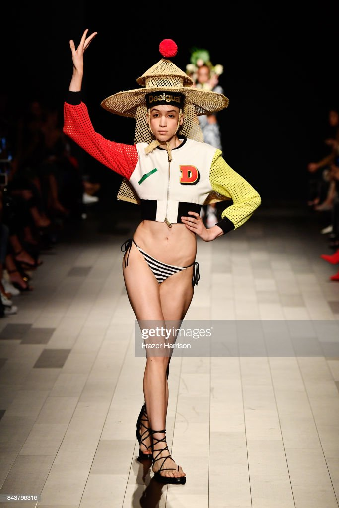 model-walks-the-runway-for-desigual-fashion-show-during-new-york-picture-id843796316