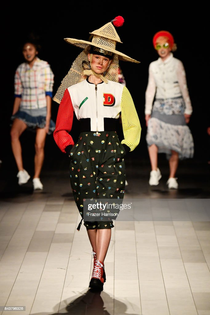 model-walks-the-runway-for-desigual-fashion-show-during-new-york-picture-id843796326