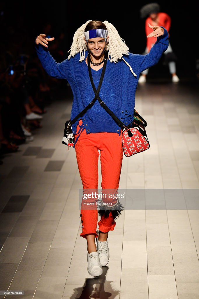 model-walks-the-runway-for-desigual-fashion-show-during-new-york-picture-id843797996