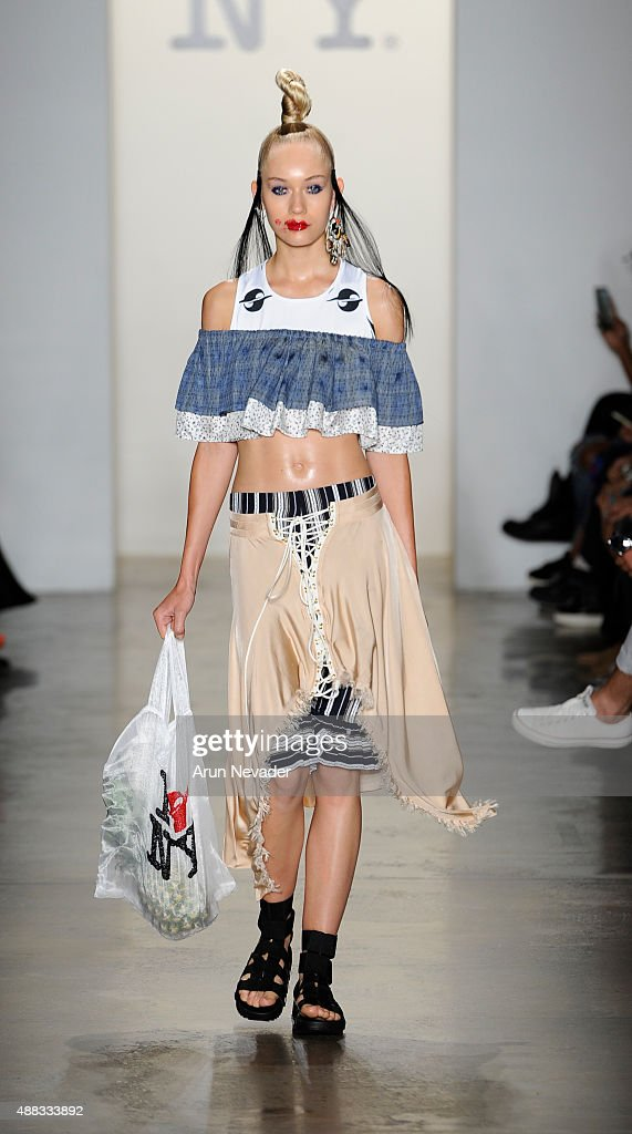A model walks the runway for Gypsy Sport at Milk Studios on September 15 2015 in New York City