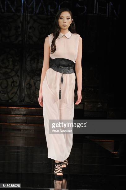 A model walks the runway for Jonathan Marc Stein Fashion Show at Art Hearts Fashion SS/18 at The Angel Orensanz Foundation on September 7 2017 in New...