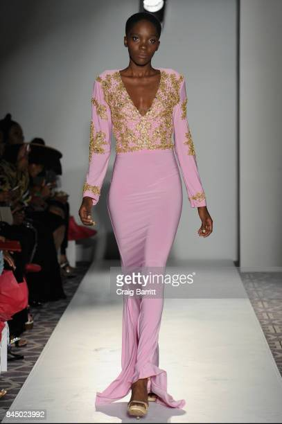 A model walks the runway for Kaftan Citra Fashion Gallery NYFW during New York Fashion Week at Stewart Hotel on September 9 2017 in New York City