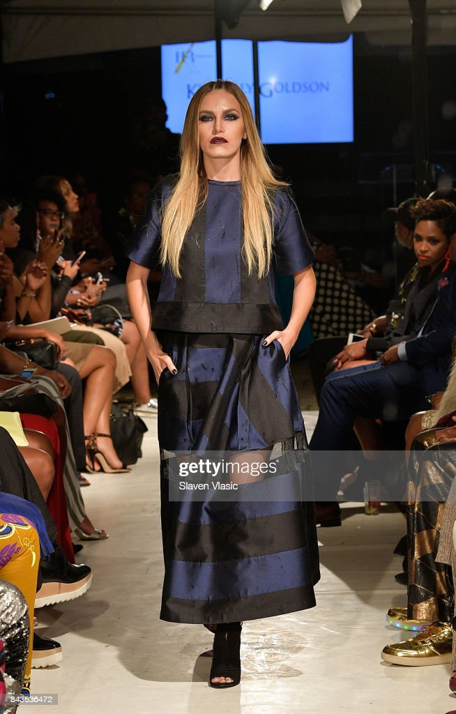 model-walks-the-runway-for-kimberly-goldson-fashion-show-a-part-of-picture-id843636472