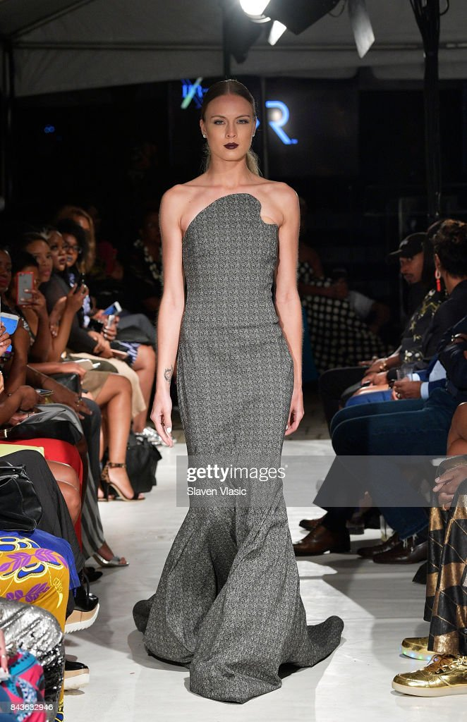 model-walks-the-runway-for-kr-fashion-show-a-part-of-harlems-fashion-picture-id843632946