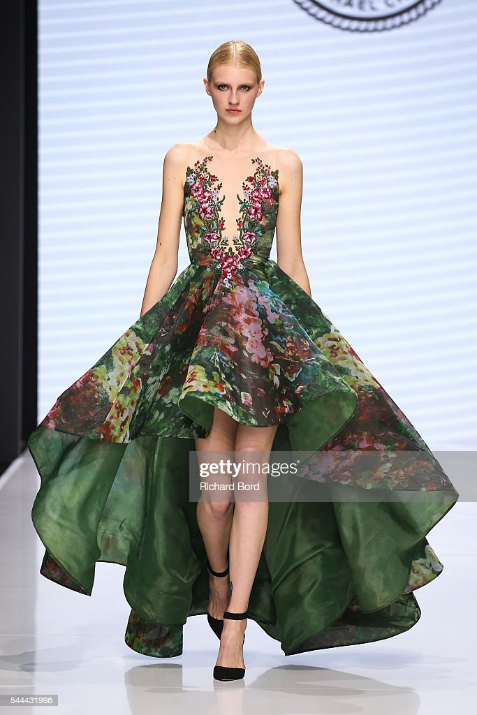 Model walks the runway for michael cinco during the couturissimo