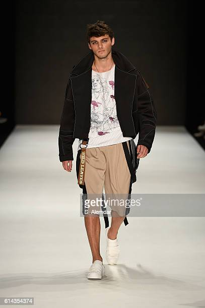 A model walks the runway for Robert Mapplethorpe by Kubra Unlu at the New Gen By Ima show during MercedesBenz Fashion Week Istanbul at Zorlu Center...