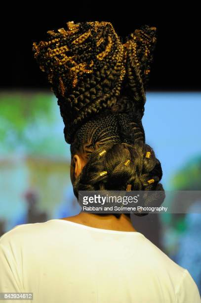 A model walks the runway for Shea Moisture during Texture On The Runway presented by NaturallyCurly powered By Sally Beauty at Gotham Hall on...