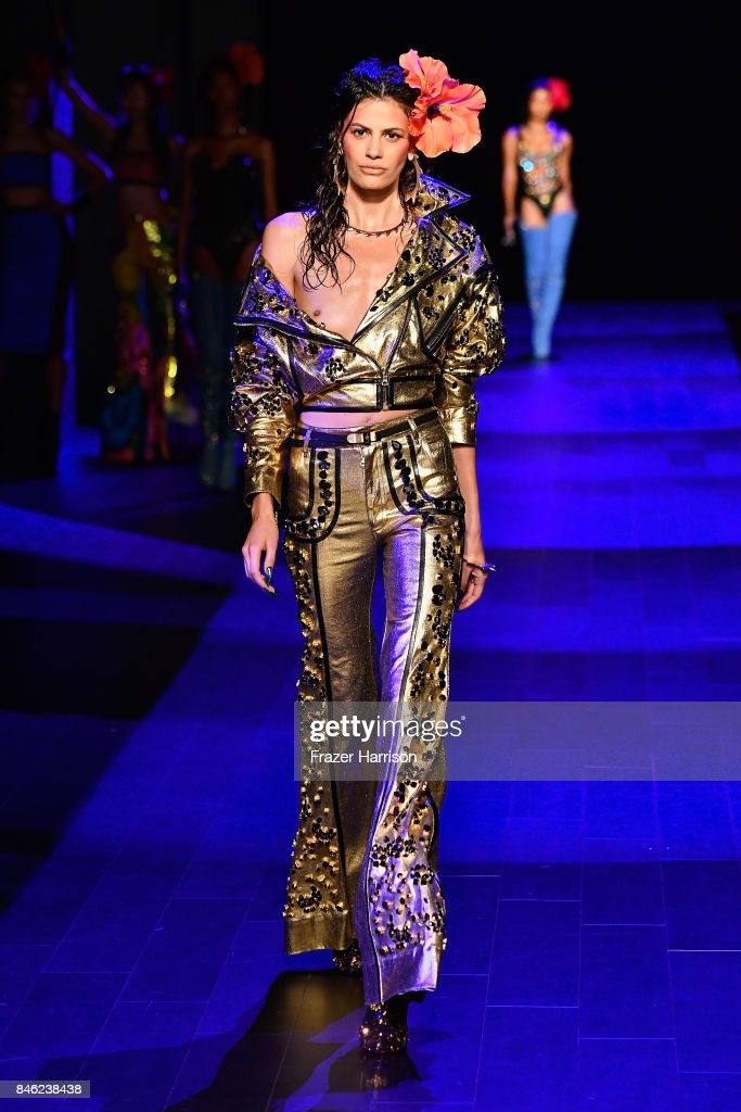 A model walks the runway for The Blonds fashion show during New York Fashion Week: The Shows at Gallery 1, Skylight Clarkson Sq on September 12, 2017 in New York City.