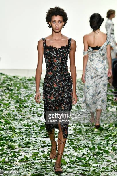 A model walks the runway for the Brock Collection fashion show during New York Fashion Week Presented By MADE at Gallery 2 Skylight Clarkson Sq on...