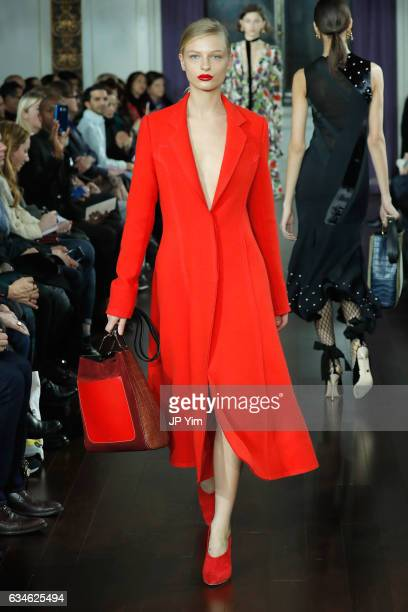 A model walks the runway for the Jason Wu collection during New York Fashion Week at The St Regis on February 10 2017 in New York City