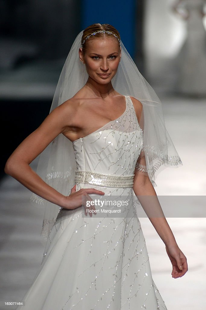 A model walks the runway for the new St. Patrick 2014 collection at the Palau de Congressos on March 4, 2013 in Barcelona, Spain.