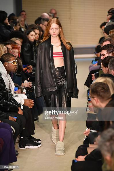 A model walks the runway for the Public School collection during New York Fashion Week The Shows at Milk Gallery on February 12 2017 in New York City