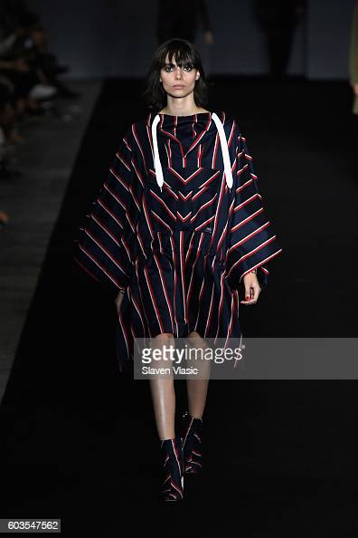 A model walks the runway for the Rag Bone fashion show during New York Fashion Week September 2016 at Skylight Clarkson North on September 12 2016 in...