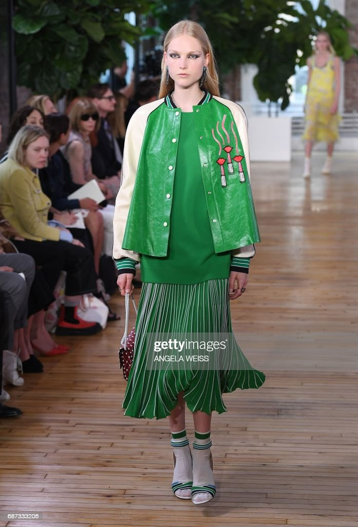 A model walks the runway for the Valentino Resort 2018 runway show on May 23, 2017 in New York City. /