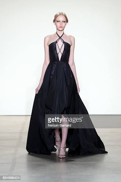 A model walks the runway for the Vivienne Hu collection during New York Fashion Week The Shows at Gallery 2 Skylight Clarkson Sq on February 12 2017...