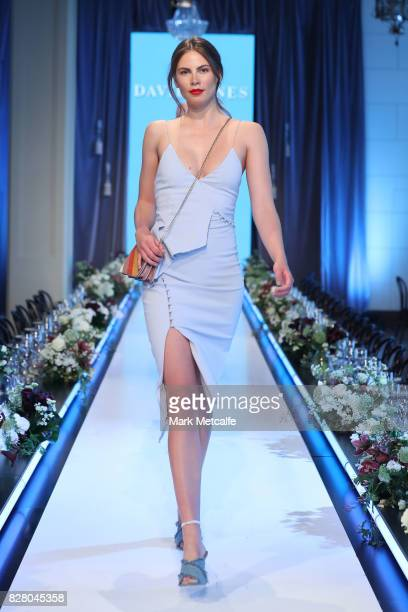 A model walks the runway in a design by Bec Bridge during rehearsal ahead of the David Jones Spring Summer 2017 Collections Launch at David Jones...