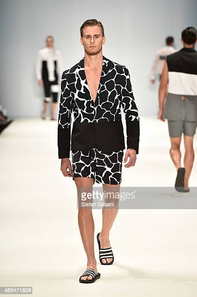 A model walks the runway in a design by Will Be at the Raffles show during MercedesBenz Fashion Week Australia 2014 at Carriageworks on April 9 2014...