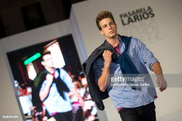 A model walks the runway in the Costelloe Casual Mens fashion show during the VII Larios Malaga Fashion Week on September 16 2017 in Malaga Spain