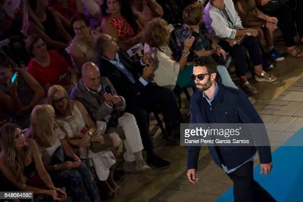 A model walks the runway in the Emidio Tucci Black show during the VII Larios Malaga Fashion Week on September 16 2017 in Malaga Spain