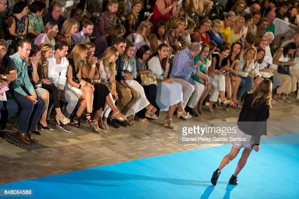 A model walks the runway in the Gloria Ortiz show during the VII Larios Malaga Fashion Week on September 16 2017 in Malaga Spain