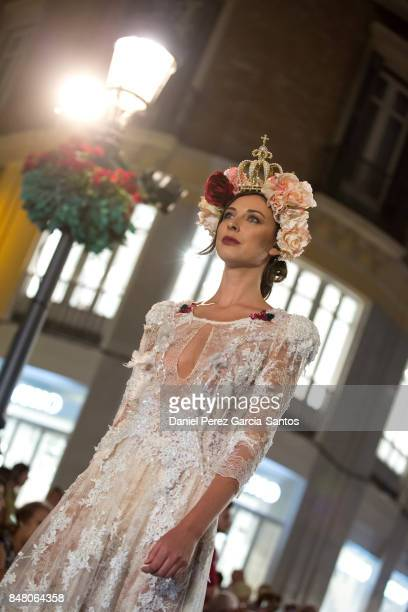 A model walks the runway in the Impecable show during the VII Larios Malaga Fashion Week on September 16 2017 in Malaga Spain