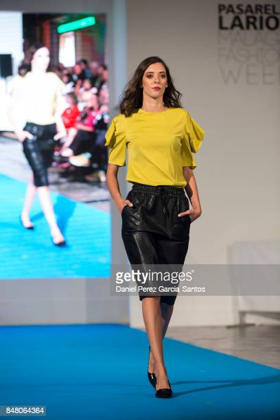 A model walks the runway in the Lennon Courtney fashion show during the VII Larios Malaga Fashion Week on September 16 2017 in Malaga Spain