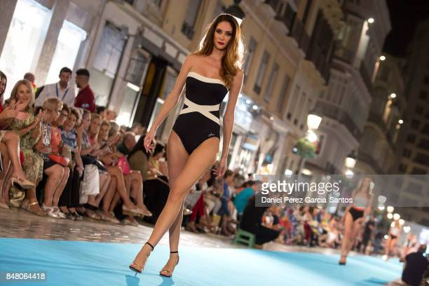 A model walks the runway in the Livia show during the VII Larios Malaga Fashion Week on September 16 2017 in Malaga Spain