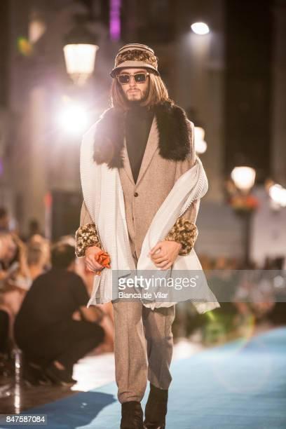 A model walks the runway in the Lucas Balboa fashion show during the VII Larios Malaga Fashion Week on September 15 2017 in Malaga Spain