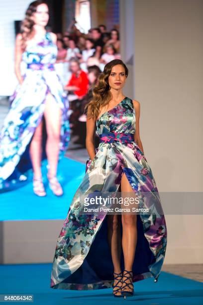 A model walks the runway in the Olimara fashion show during the VII Larios Malaga Fashion Week on September 16 2017 in Malaga Spain