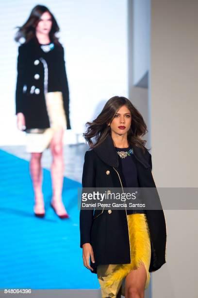 A model walks the runway in the Savida fashion show during the VII Larios Malaga Fashion Week on September 16 2017 in Malaga Spain