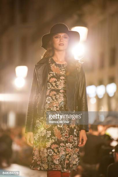 A model walks the runway in the Tintoretto fashion show during the VII Larios Malaga Fashion Week on September 16 2017 in Malaga Spain