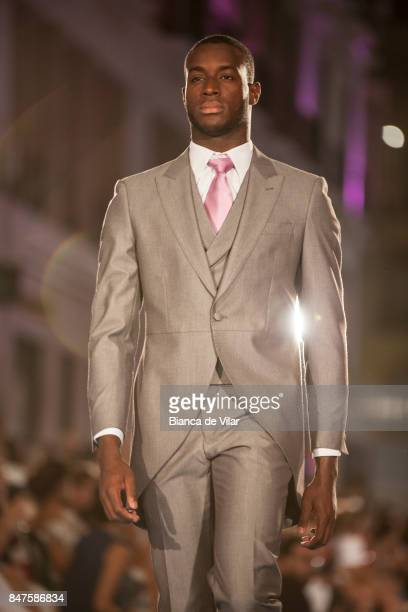 A model walks the runway in the Vertize Gala fashion show during the VII Larios Malaga Fashion Week on September 15 2017 in Malaga Spain