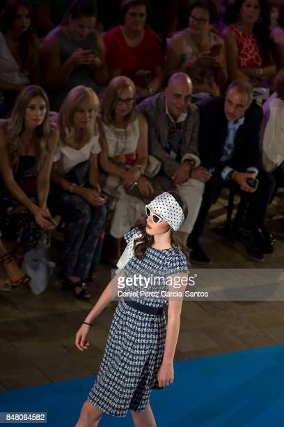 A model walks the runway in the Yera show during the VII Larios Malaga Fashion Week on September 16 2017 in Malaga Spain
