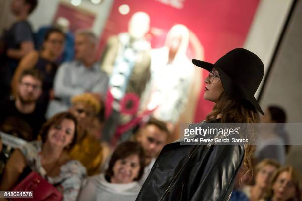 A model walks the runway in the Zendra show during the VII Larios Malaga Fashion Week on September 16 2017 in Malaga Spain