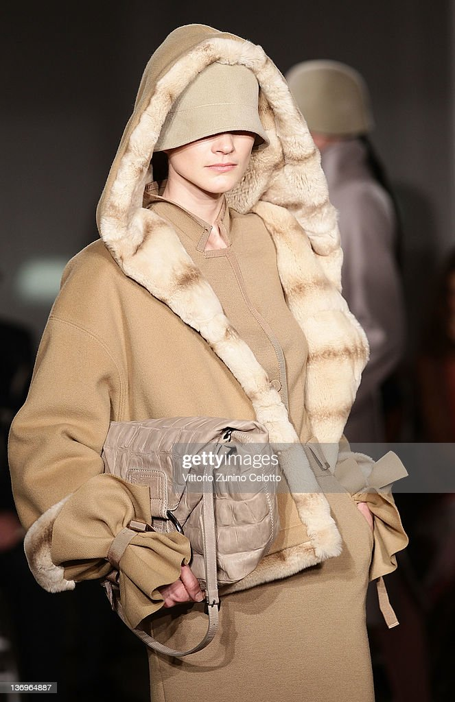 A model walks the runway of the 'Alberta Ferretti Special Event' during the Milan Fashion Week Autumn/Winter 2012 on January 13, 2012 in Milan, Italy.