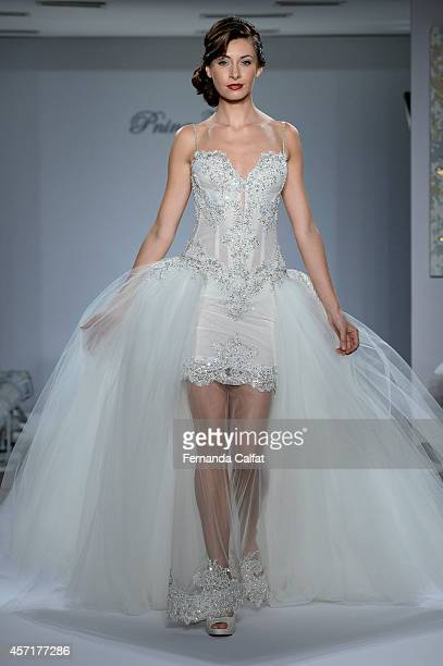 A model walks the runway Pnina Tornai For Kleinfeld Runway Show during Fall 2015 Bridal Collection at Kleinfeld on October 13 2014 in New York City