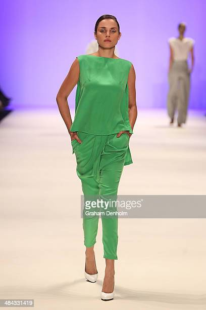 A model walks the runway showcasing designs by Cameo The Label at the Best of #MBFWA show at MercedesBenz Fashion Week Australia Weekend Edition at...