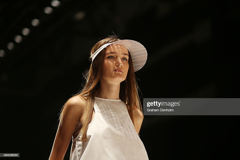 A model walks the runway showcasing designs by Suboo at the Best of #MBFWA show at Mercedes-Benz Fashion Week Australia - Weekend Edition at Carriageworks on April 13, 2014 in Sydney, Australia.